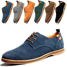 Men's Suede Leather Shoes Casual Breathable European Style Flat Comfort Fashion