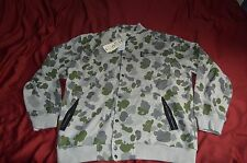 NEW CROOKS AND CASTLES FLEECE BUTTON UP JACKET CAMO PROBLEM SOLVERS