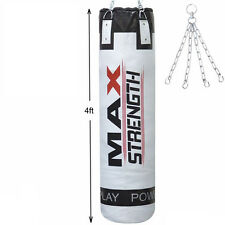 Punch Bags Heavy Duty MMA Kick Fight Boxing 4ft filled Bag Karate Training UFC