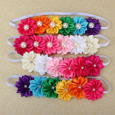 Cute Baby Girl Infant Toddler Colorful Headbands Flowers Bow Headwear Hair Band