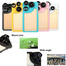 4 in1 Wide Angle Macro Fisheye Telephoto Camera Lens Case For iPhone 6 6s Plus