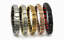 Titanium Bracelet Power Nano Energy Germanium Magnetic Balance Ion Silver 20