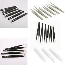 Multiple Anti-static Plastic/Steel Precision Tweezers Set Pick Up Repair Tools
