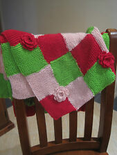Baby Blanket/Pram Cover/Throw/Hand knitted 65cmX90cm Suits Bugaboo