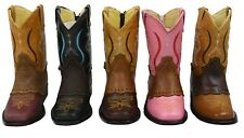 Kids Baby Genuine Leather Cowboy Boots Style 545 baby
