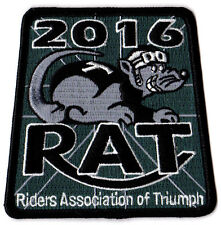 2016 Riders Association of Triumph Motorcycles RAT Patch Badge