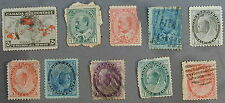Old Original Collection 10 Different Canada Stamps 1882-1897 Very Rare