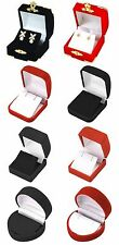 Red Box or Black Box Velvet Flocked Earring Jewelry Gift Boxes Wholesale Lots