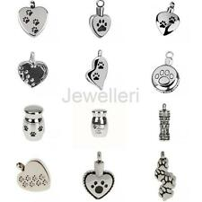 Paw Stainless Steel Keepsake Cremation Jewelry Pet Urn Pendant Ash Holder NEW