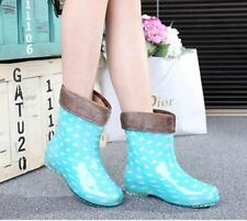 Polka-dot rain boots spring summer winter galoshes womens rainboots ankle boot
