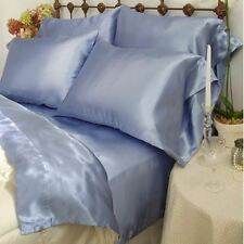 SCENT STATION CHARMEUSE SATIN II 230 THREAD COUNT SHEET SET LIGHT BLUE