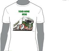 KOOLART EDDIE STOBART PERSONALISED NAME T-SHIRT GIFT  PRESENT CHRISTMAS  DES 3