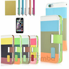 For Apple iPhone 6 Leather Magnetic Stand Wallet Card Holder Flip Cover Case