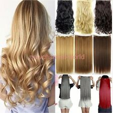 us Sales Smooth Hairpiece clip in hair extension Real quality as human hair Long