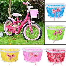 Bike Flowery Front Basket Bicycle Cycle Shopping Stabilizers Children Kids Girl&