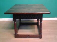 Carolean style carved oak rectangular  coffee table