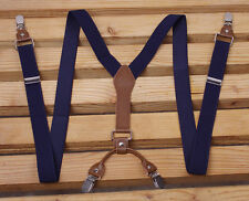 Mens Suspenders Y-Back Retro Braces Clip-On Belt Elastic Adjustable Vintage