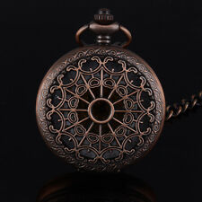 Top Quality Vintage Roman Numberals Mechanical Steampunk Skeleton Pocket Watch