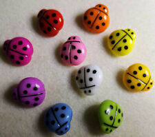 Large Ladybug Buttons Ladybird Sewing Scrap-booking Crafts