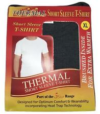Mens Thermal Short Sleeve T-Shirts Winter Warm Comfort Heat Trap Extra Warmth