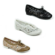 NEW WOMENS LADIES CASUAL FLAT LACE UP MOCCASINS LOAFERS PUMP SHOES SIZE 3-8