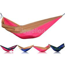 Portable Double Person Hammock Hanging Sleeping Bed Swing Outdoor Travel Camping
