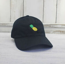 Pineapple Dad Hat Embroidered Baseball Cap Curved Bill 100% Cotton  Emoji