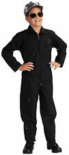 Kids Black US Air Force Style Military Flight Suit Rothco 7301