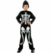 #SCARY SKELETON CHILD OUTFIT FANCY DRESS KIDS DRESSING UP ALL SIZES HALLOWEEN