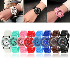 Fashion Girl Boy Kid Rubber Silicone Jelly Gel Quartz Casual Sport Wrist Watch
