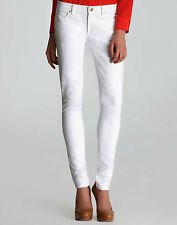 NWT JUICY COUTURE Black Label  Forever Optic White Distressed Skinny Jeans $168