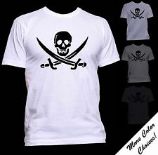 Jolly Roger Classic Pirate Flag T-shirt - New - More Color Choices -