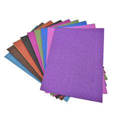 A4 Glitter Card 10 Sheets Same Colour Soft Touch DIY Craft Invitations Party JS