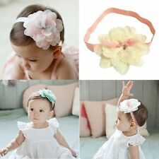 Lovely Kids Girl Baby Headband Toddler Lace Flower Floral Hair Band Accessories