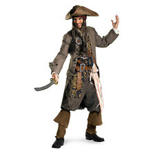 Adult Movie Pirates of the Caribbean Theatrical Captain Jack Sparrow Costume