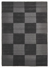 NEW Wool Hand Loomed Rug - Box Pewter