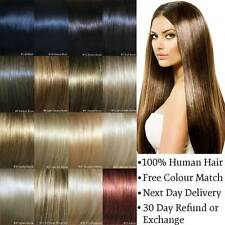 Deluxe Clip in Hair Extensions Remy Human Hair Blonde Brown Black 20 24 26 inch