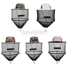 Mosquito Insect Net Bee Bug Mesh Head Face Protector Fishing Cap Hat with Zip