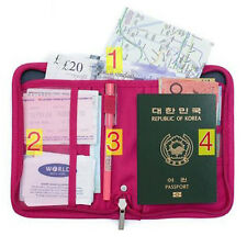 Travel Passport Credit ID Card Holder Case Document Bags Wallet Purse Organizer