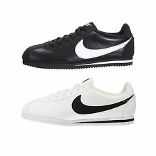 NEW Nike Cortez Leather Shoe Sneakers Trainers Unisex black white 749482 001 102