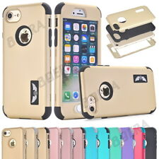 Armor Heavy Duty Shockproof Hybrid Soft Rubber Matte Hard Case Cover For iPhone