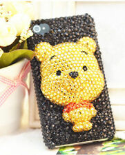 For Mobile Phone Sparkly 3D Cute Bear Rhinestones Bling Diamonds Hard Cover Case