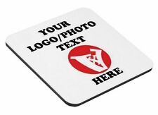 Personalised Hardboard Square Coaster  Your Photo logo Text 90 x 90mm (holder)