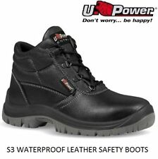 NEW MENS WOMENS U-POWER WATERPROOF STEEL TOE CAP WORK SAFETY BOOTS SHOES TRAINER