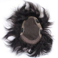 Osking Thin Skin Human Hair Men's Toupee V Looped PU Hair Piece Hair Replacement