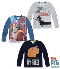 Boys SECRET LIFE OF PETS Long Sleeve T-shirt, Top Age 4,6,8,10,