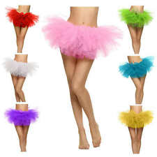 Sexy Women Adult Organza Dancewear Tutu Ballet Pettiskirt Princess Party Skirt