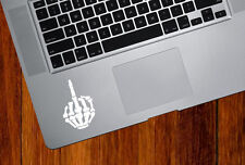 """TP - Skeleton Hand MIddle Finger - Vinyl Trackpad Decal © YYDC (2.2""""w x 3.5""""h)"""