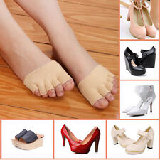 Non Slip High Heel Sandal Invisible Half Footie Open Toe Socks Toe Support Brace