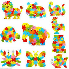 Fun Wooden Blocks Animals Kid Childrens Learning Toy Alphabet Puzzle Jigsaw A-Z